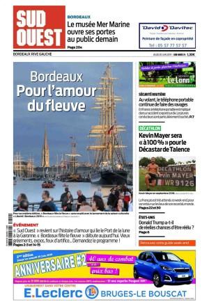 Articles Bordeaux fête le fleuve - Sud-Ouest du 20 Juin 2019 - PDF