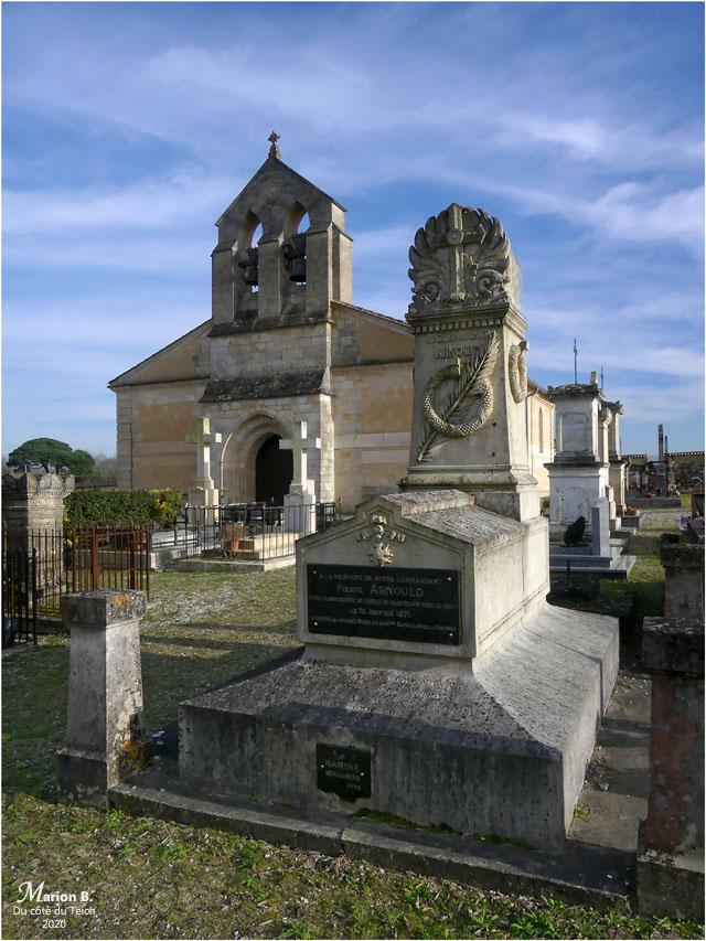 BLOG-P1010154-église St Martin Labarde et tombte Cdt Pierre Arnould