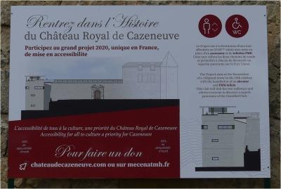 projet 2020 de mise en accessibilité du château de Cazeneuve