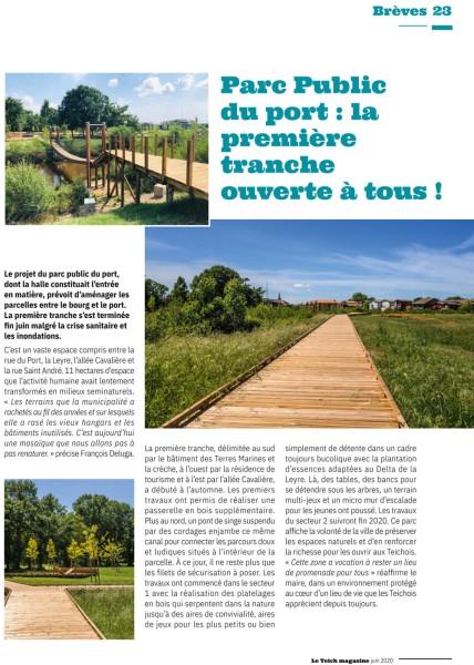 LETEICH-MAG69-Juin 2020-parc public du port-1ère tranche ouverte à tous